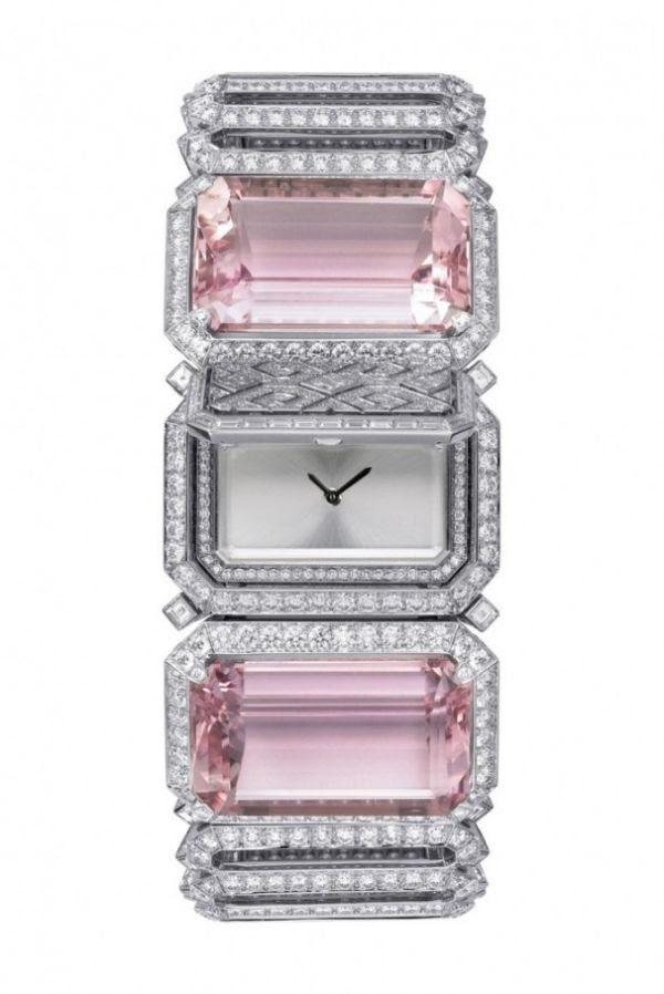 awesome Kunzite and diamond secret watch – Cartier