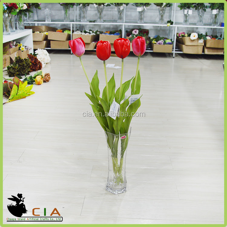 Factory Direct Silicone Flowers Artificial Tulip Flower for wholesale