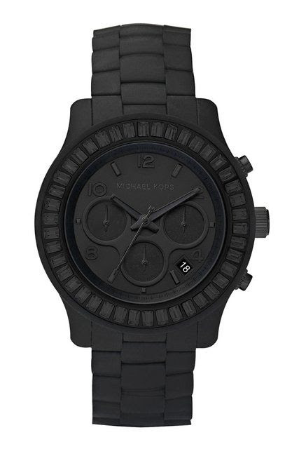 Michael Kors matte black watch. This is the one I actually really wanted; but the kind of matte MK watch I have now is good too.