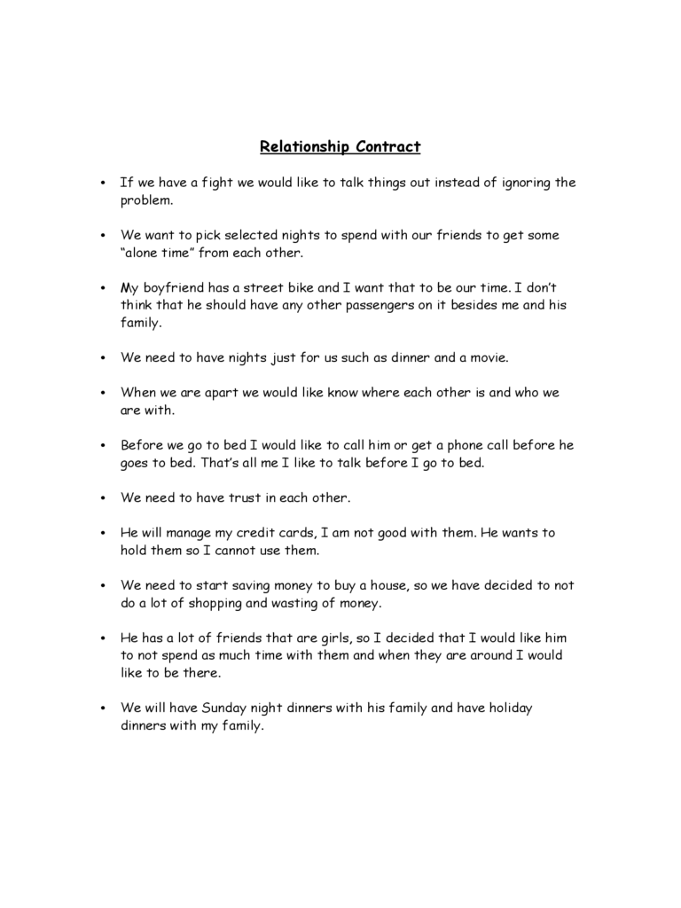 relationship contract d1