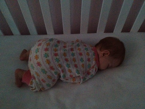 Love it when she sleeps like this. Actually, I just love it when she sleeps.