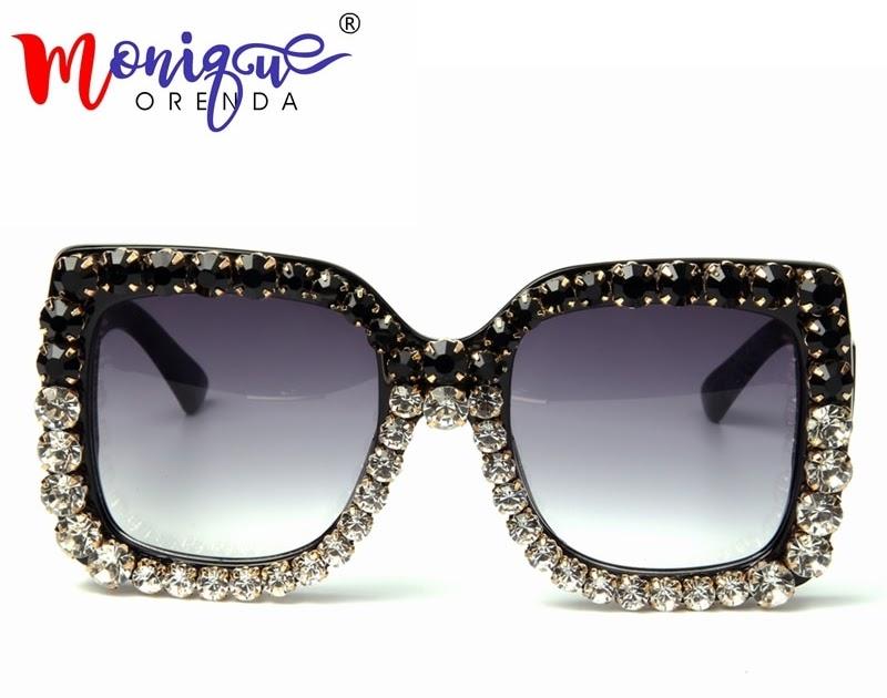 08ad83a66 Comprar Verão Óculos De Sol Das Mulheres Marca Designer Retro Sunglasses  Oversize Moda Shades Oculos Senhoras Strass Luxo Do Vintage Baratas Online  Preço ...