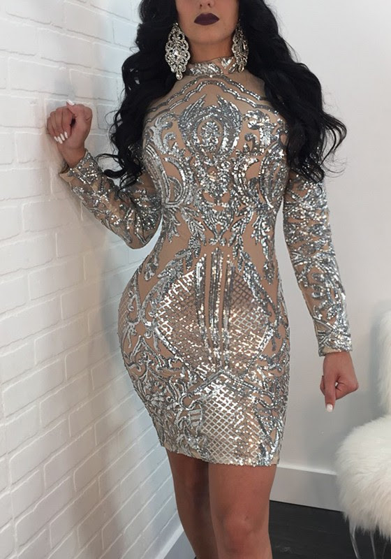 Gold sparkly bodycon dress fabric