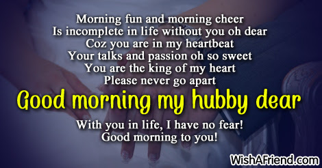 Good Morning Message For Husband Morning Fun And Morning Cheer Is
