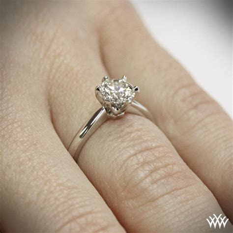contemporary classic solitaire engagement ring