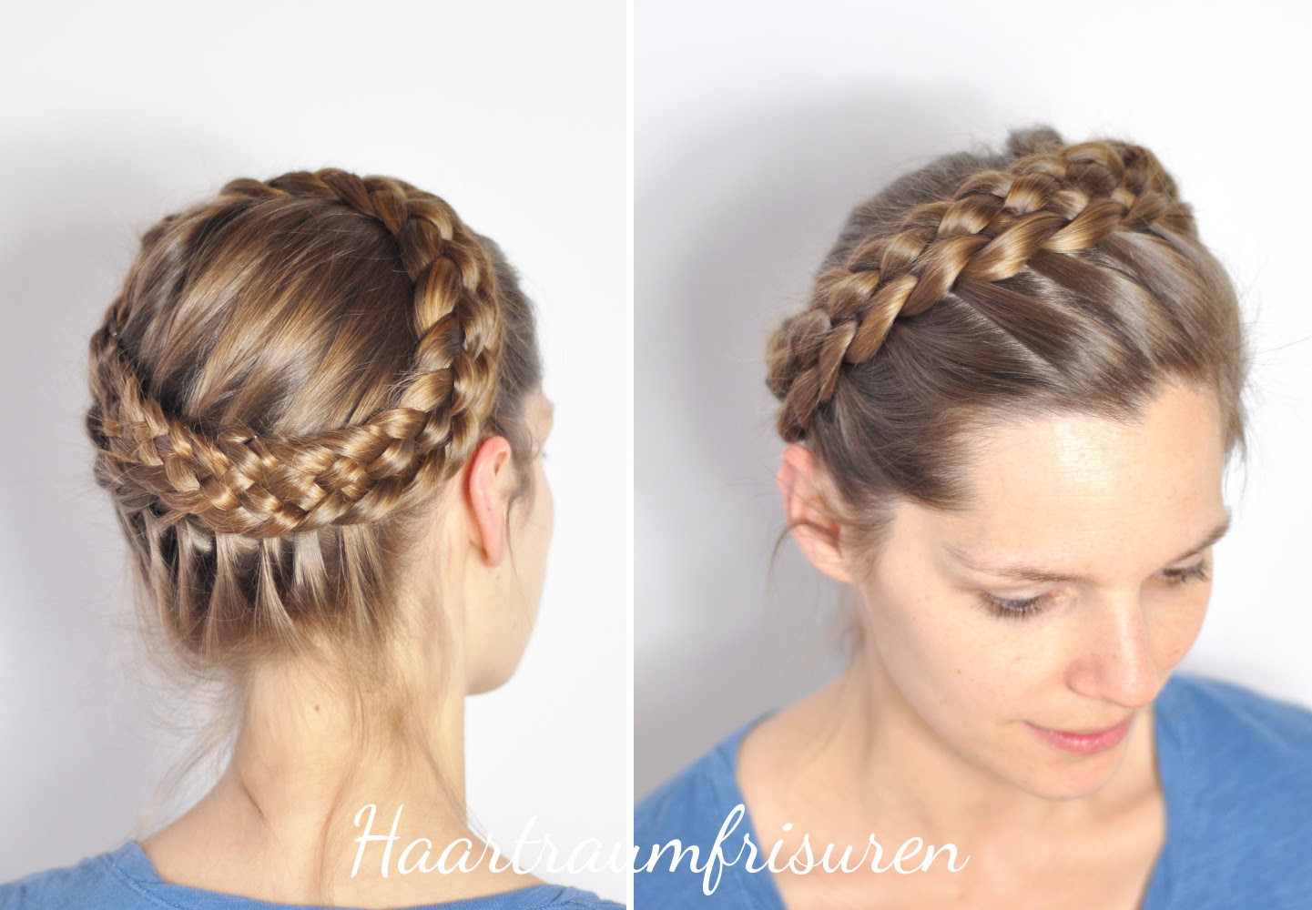 Crown Braids Haartraumfrisuren