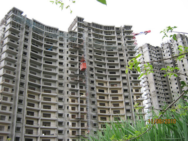 Visit  to Paranjape Schemes' Blue Ridge Hinjewadi Pune 411 057 on August 11, 2010