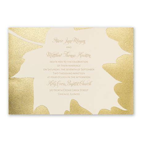 Gold Leaf Foil Invitation   Invitations By Dawn