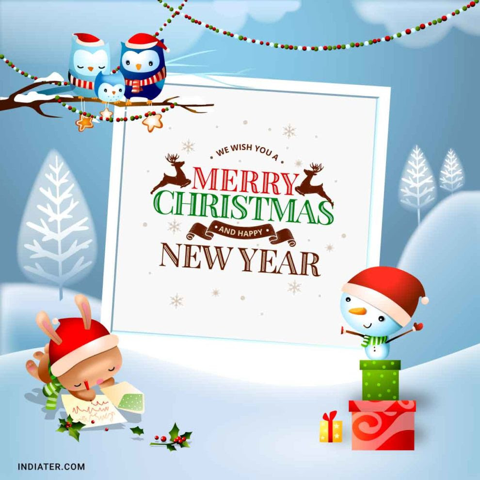 Free Merry Christmas And New Year Wishes Images For Facebook