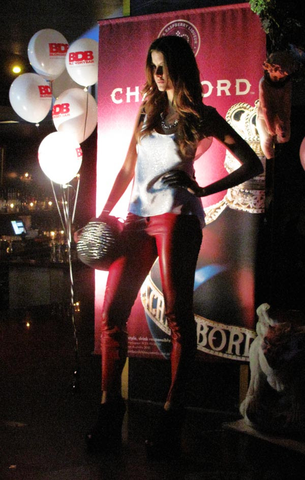 Studded Lawless Bag, Red Pants white top, Zipporra and Love & Luck at The Club 2010, Street Fashion Sydney