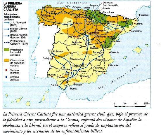 Primera Guerra Carlista Mapa.Mapa Primera Guerra Carlista Mapa