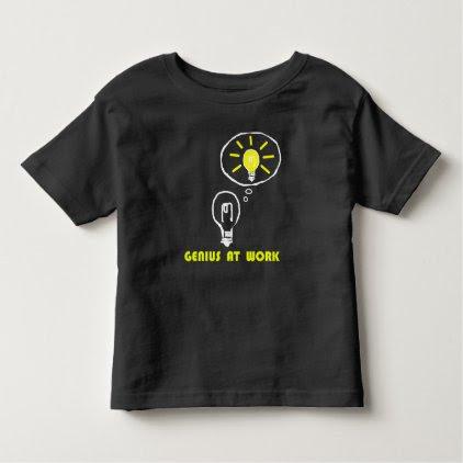 Genius at work toddler t-shirt