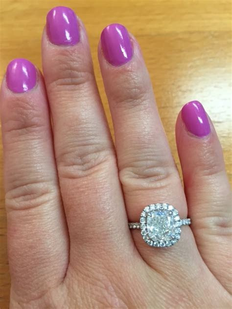 Married ladies ? what hand do you wear your engagement