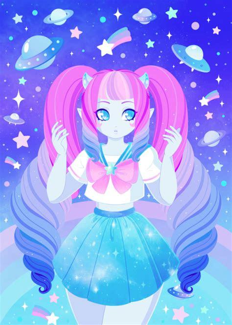 kawaii alien girl cute trash pinterest alien girl