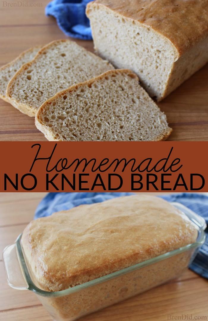 Healthy Recipe Idea: Homemade No Knead Bread - Bren Did