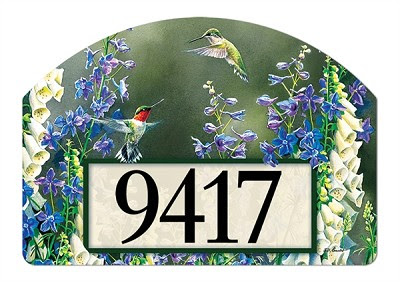 Hummingbird Garden Yard Designs Magnetic Yard Art
