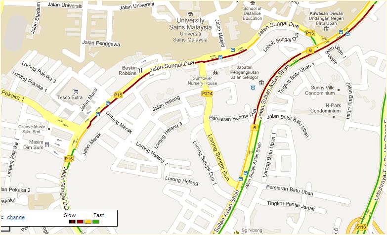 Penang live traffic update on Facebook on Outdated Penang Uncle blogspot dot com