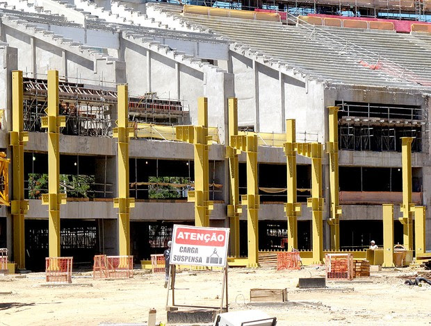 obras no estádio Maracanã para a Copa de 2014 (Foto: Felippe Costa / GLOBOESPORTE.COM)