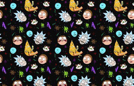 rick  morty fabric  tannenbaum  spoonflower