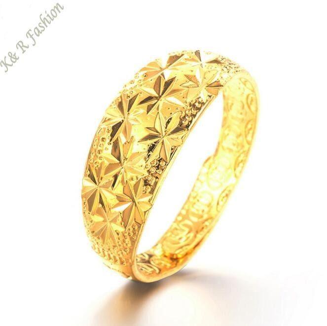Fashion Desingner 24K Gold Finger Ring Yellow Gold Wedding Ring Jewelry G