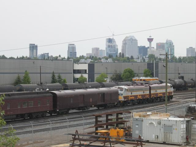 The Royal Canadian Pacific passenger train in Calgary