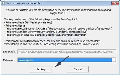 TeslaCrypt solved, Releases Master Decryption Key presssetkey_4 \u2013 Angel Data Recovery