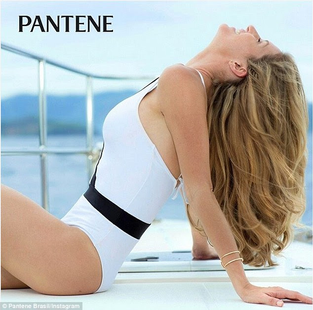 Pantene Brasil also shared a photo from the shoot and captioned it: 'Ahhh , summer! <3 Gisele is ready to dive headlong into the most anticipated season.'