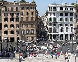 Via Condotti, Rome's main upscale shopping str...