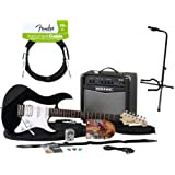 Yamaha GIGMKREG Gigmaker Eg Black Electric Guitar Package with On Stage Onstage XCG4 Tubular Guitar Tripod Stand...