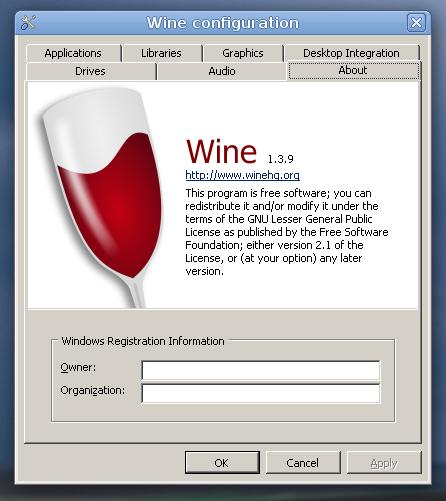 wine configuration
