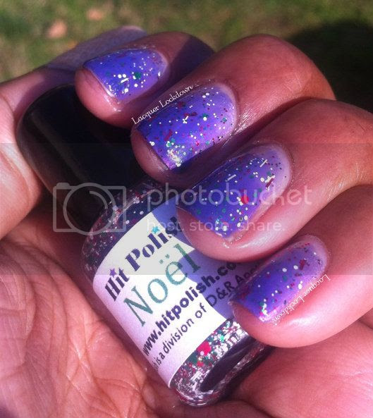 Lscquer Lockdown - Hit Polish Noel, Colorama Gota, glitter nail polish, indie polish, syrup nails, jelly polish, jelly finish polish, Cameleon Polish Calypso, indie, christmas polish, christmas manicure, jelly polish