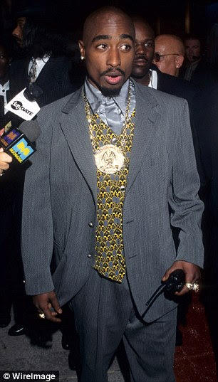 Tupac Shakur, who was killed in 1996
