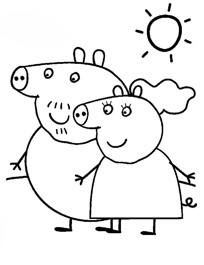 111 Dibujos De Peppa Pig Para Colorear Oh Kids Page 7