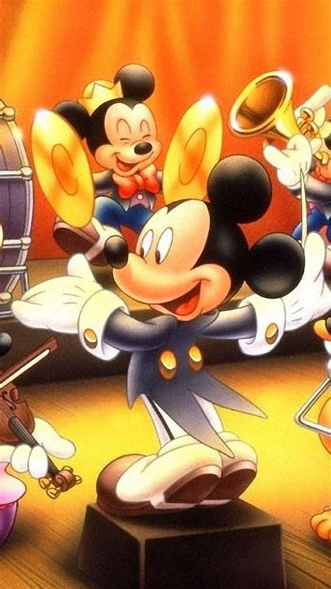 Mickey mouse donald duck orchestra minnie daisy wallpaper