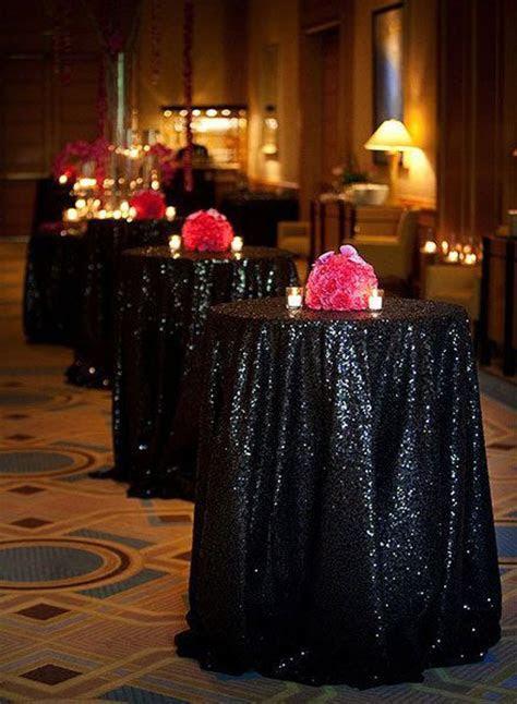 25  best ideas about Black tablecloth wedding on Pinterest
