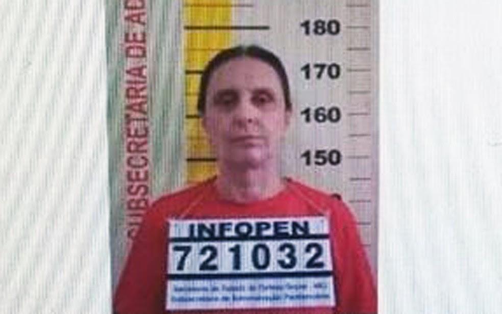 Andrea Neves, em imagem de arquivo, é registrada no sistema prisional de Minas Gerais (Foto: Reprodução)