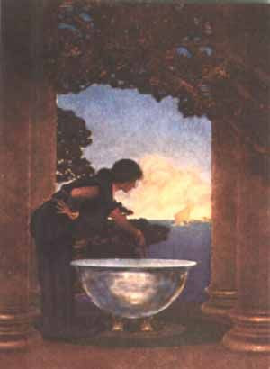 Maxfield Parrish Online Gallery - Circe's Palace 1907
