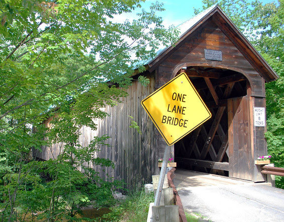 Another view of the Hall Covered Bridge in Rockingham, Vermont.