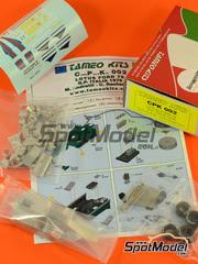 Tameo Kits: Maqueta de coche escala 1/43 - Lotus Ford Type 79 Martini Essex Nº 1, 2 - Mario Andretti (US), Carlos Reutemann (AR) - Gran Premio de Italia 1979 - kit de metal