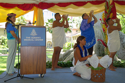 The Queen's medical center ceremony-Hawaii's health care leader