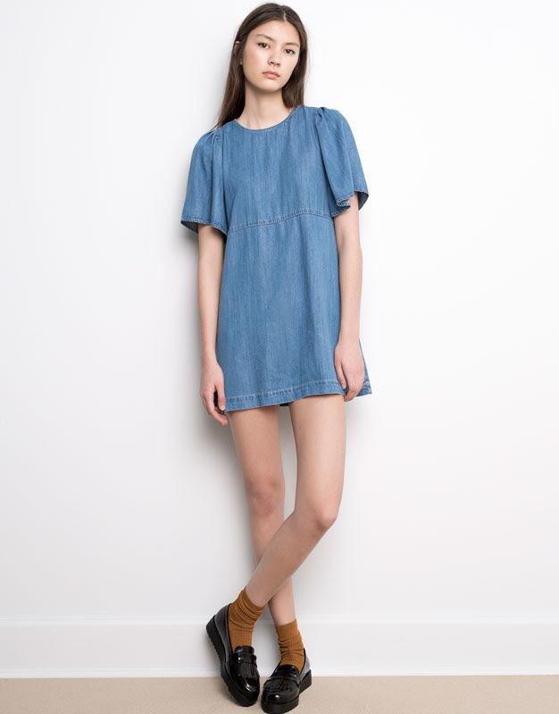 Pull&Bear - mujer - vestidos - vestido vaquero - azul - 05390201-V2016