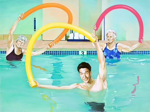 mr noodle pool david schwimmer brandon bird painting