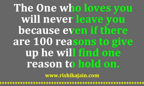 The One Who Loves You Will Never Leave You Daily Inspirations For