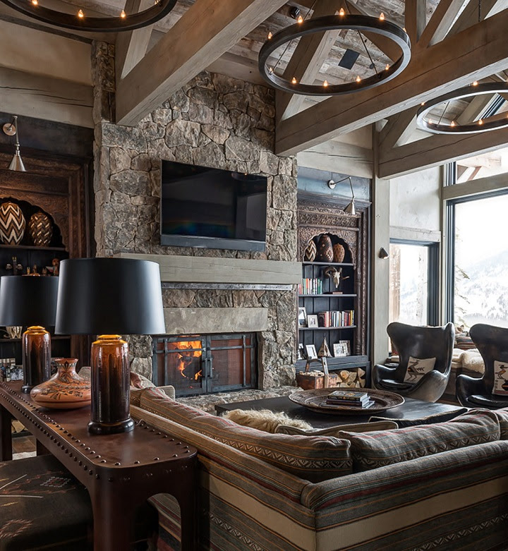 chalet chic living room 9