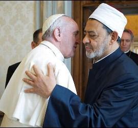 El papa Francisco y el imán de Al Azhar