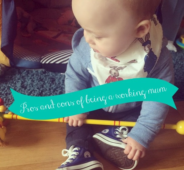 """Pros and consProsExtra money - Not relying on Brad and pants maternity pay is the best feeling in the world. Knowing i'm getting a lump sum of money in my account every month that i've earned myself and wont feel guilty spending as i know that it's my money and not Brad's.Independence- Having some non mummy time! I love being a mummy but you loose your identity when you have a baby, you're no longer """"Hi, this is Nicole"""" you're """"Hi, this is Lucas' mummy"""" It's nice to be able to introduce yourself as """"Nicole"""" and have people refer to you as it.Absence makes the heart grow fonder - I now appreciate my mummy time and family time more than I did before. I get time to miss Lucas and Brad and it makes us bond better strangely enough.ConsMissing them - It's obviously great to miss them, but with only one day together a week, it does make us both awfully selfish and crave the day together, we also feel like we miss out on things they do. Pancake day for example. We're going to have to do it on the sunday before hand because we cannot all be together on pancake day and making pancakes for Lucas at 8pm is not even close to a great idea.Exhaustion -If you weren't exhausted before, then add 36 hours on your feet a week and then parenting at the same time. You suffer more when you feel ill as you're run down as well as just tired and there is never a time to feel better.Lack of blogging/vlogging - Being so exhausted all the time, and running my own little business alongside my full time job, I am still struggling with lack of blog and vlog posts. It's my mission to attempt a sunday funday post this weekend and by the end of february have a new youtube video uploaded. I love doing them, I just need to find the time.Childcare - We're very lucky and work in the same nursing home so we work opposite shifts in the week, except Saturdays where we both work and My mum has his one week and Brad's mum the following week. Luckily we don't have to pay out for childcare as we have such wonde"""