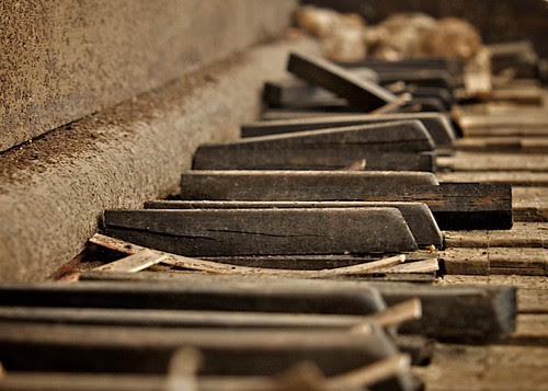 Piano Keys, Desert Center School, Abandoned, Desert Center, CA