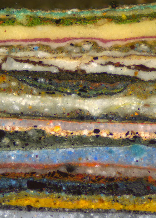 Click here to read Microscopic cross-section photo of layers of paint is more spectacular than we ever would have imagined