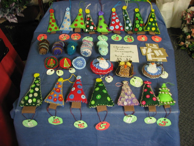 christmas ornaments at the craft show  Flickr  Photo Sharing!