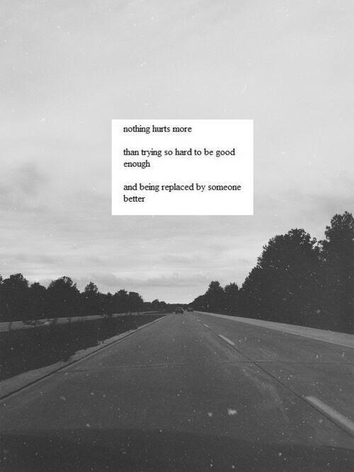 Quote Sad Words Hurt True Feelings Not Good Enough Handwritten